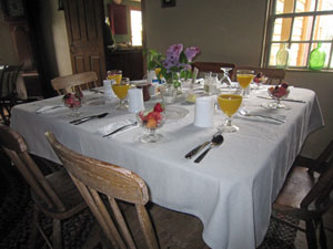 Johnny cakes and homemade breads lead off the menu at the 38th Annual May Breakfast/Brunch on Sunday, May 1st, at the Smith-Appleby House Museum in Smithfield, RI.